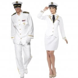 Captain Deluxe & Naval Officer - Couples Costume