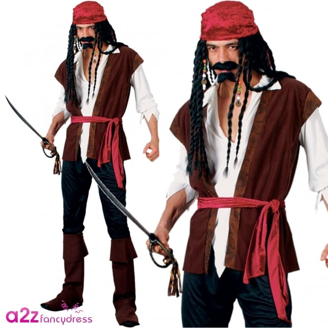 Caribbean Pirate Deluxe - Adult Costume
