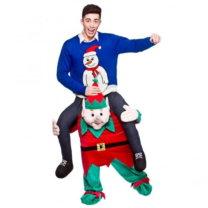 Carry Me Christmas Elf - Adult Costume