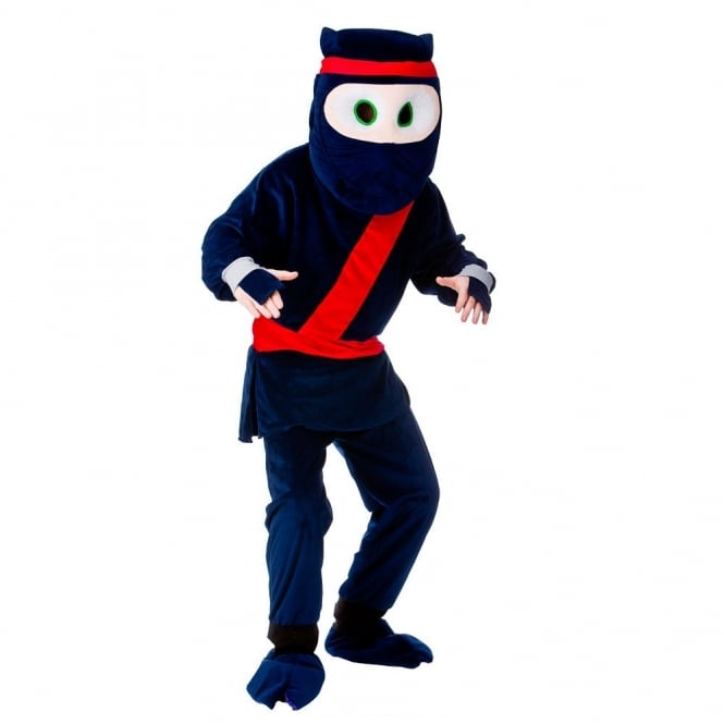 Cartoon Ninja Mascot - Adult Costume