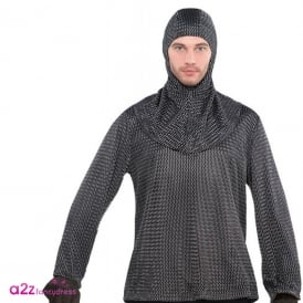 Chain Mail Tunic & Hood - Adult Accessory