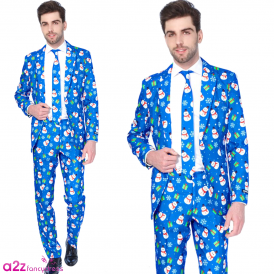 Christmas Blue Snowman - Adult Suitmeister