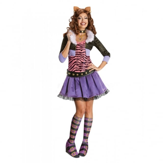 MONSTER HIGH ~ Clawdeen Wolf - Adult Costume