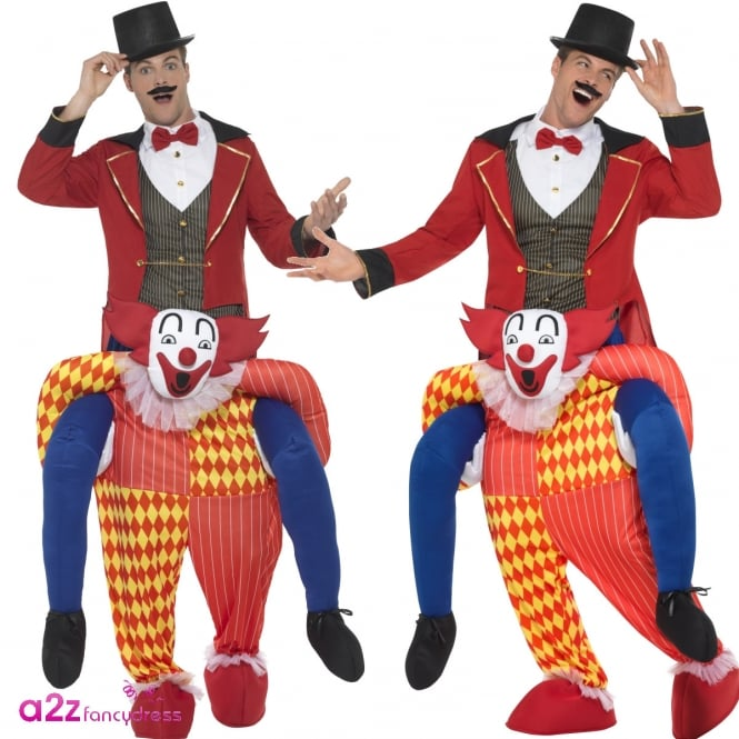Clown Piggyback - Adult Costume