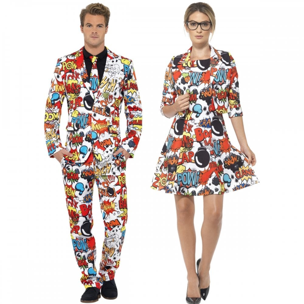 3f1a03fd612 Comic Strip Suit - Couples Costumes - Couples Costumes from A2Z Fancy Dress  UK