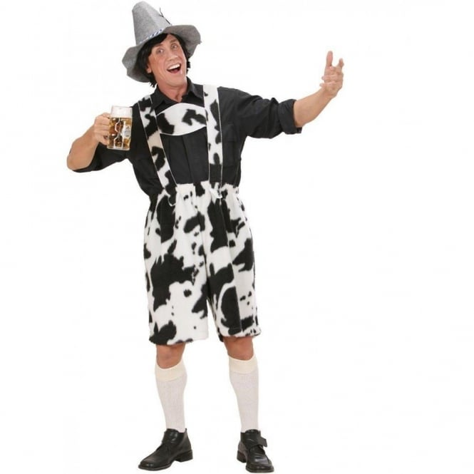 Cow Lederhosen - Adult Costume
