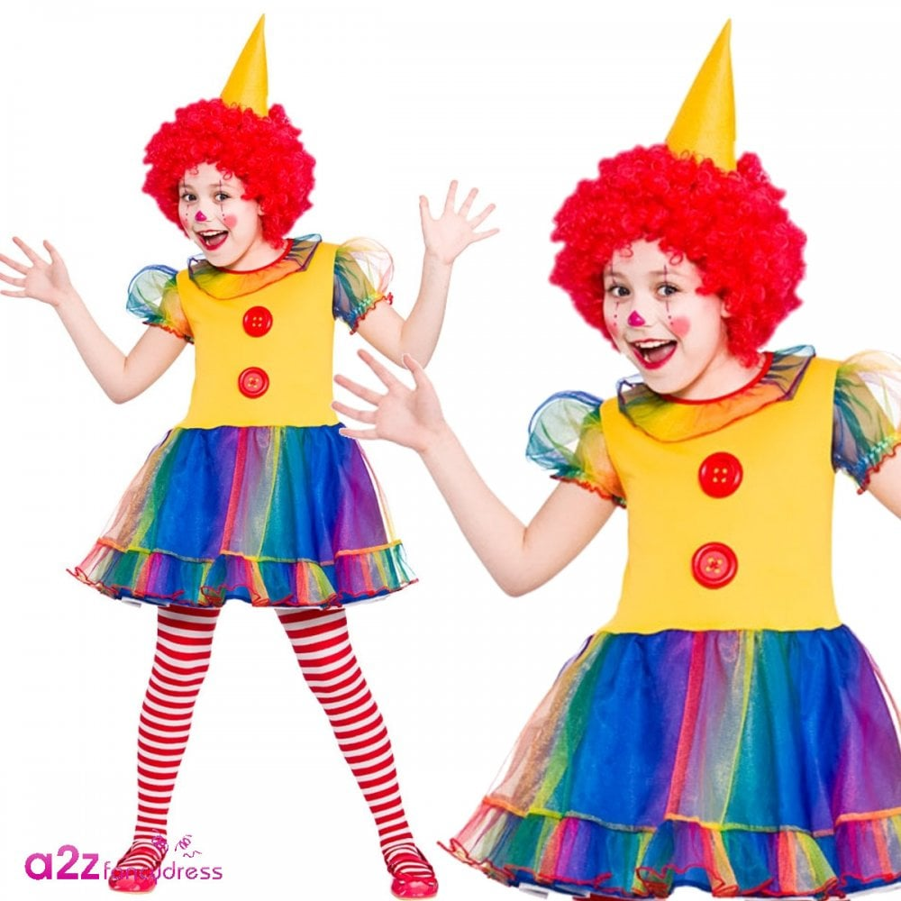 NOSE Boys Girls Circus Clown COSTUME SHOES FACEPAINT Fancy Dress WIG