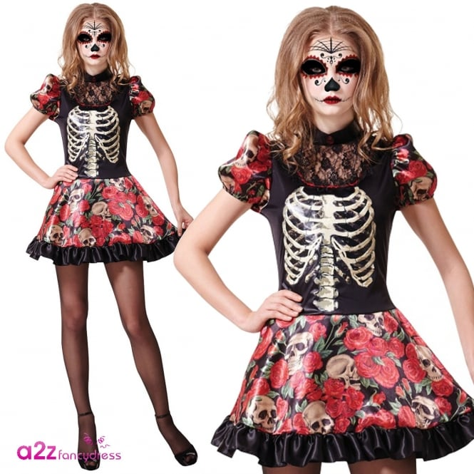 Day Of The Dead Doll - Adult Costume