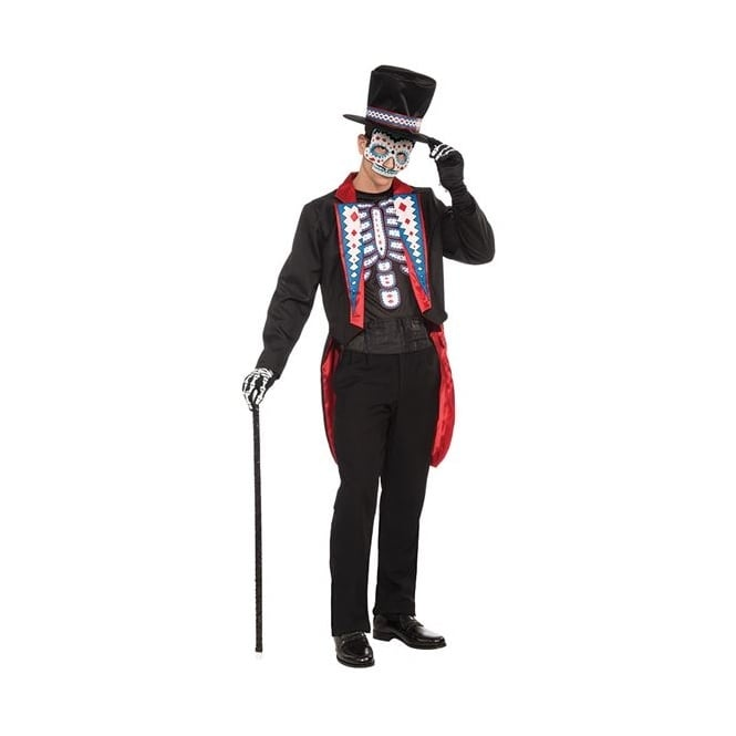 Day Of The Dead Long Tail Suit - Adult Costume