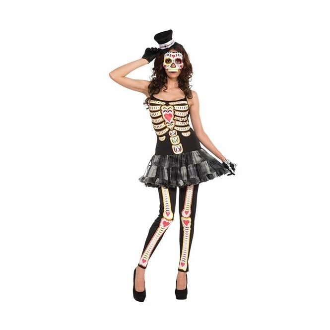 Day Of The Dead Tutu Dress - Adult Costume