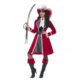 Deluxe Authentic Lady Pirate Captain - Adult Costume