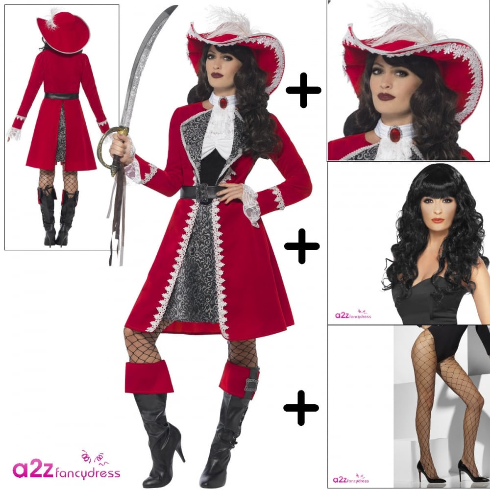 27f3ce882e8 Deluxe Authentic Lady Pirate Captain - Adult Costume Set (Costume ...