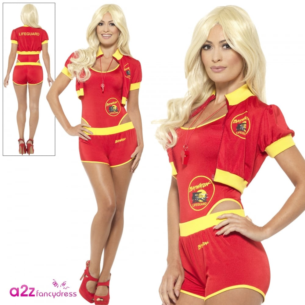 sc 1 st  a2z Fancy Dress & Deluxe Baywatch Lifeguard - Adult Ladies Costume