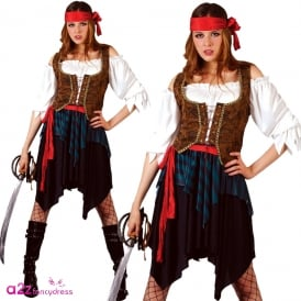 Deluxe Caribbean Pirate Lady - Adult Costume