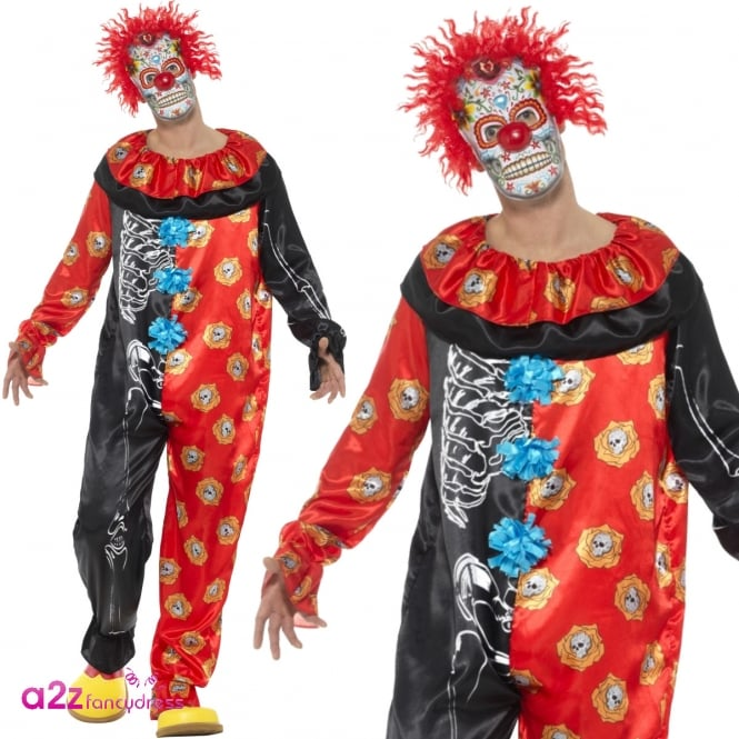 Deluxe Day of the Dead Clown - Adult Costume