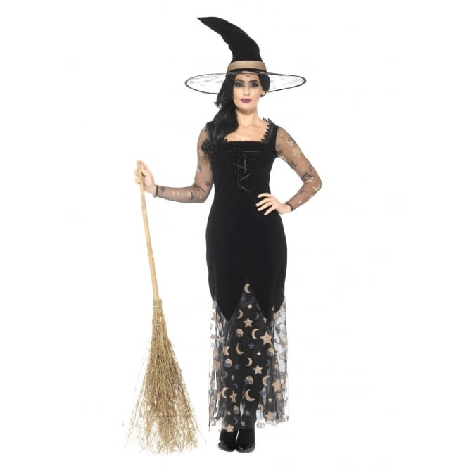 Deluxe Moon & Stars Witch - Adult Costume