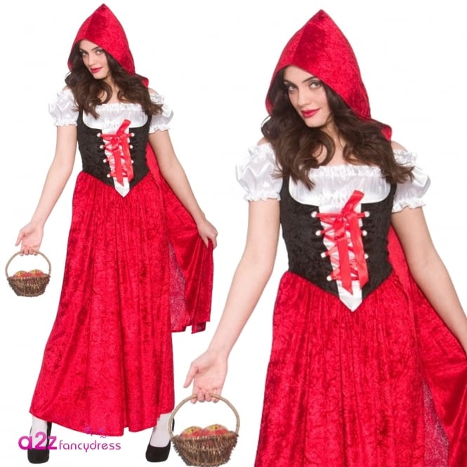 RED RIDING HOOD Deluxe Red Riding Hood - Adult Costume