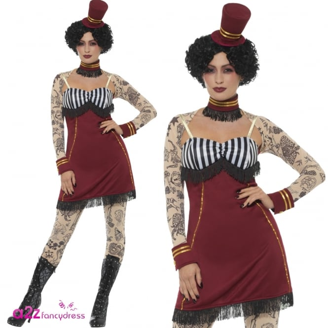 Deluxe Tattoo Lady - Adult Costume