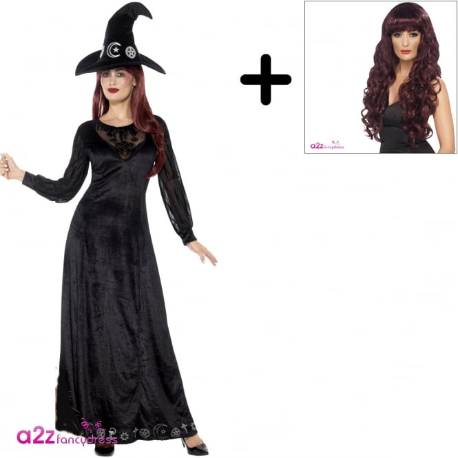 Deluxe Witch Craft - Adult Costume Set (Costume, Wig)