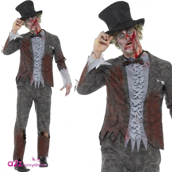 Deluxe Zombie Groom - Adult Costume