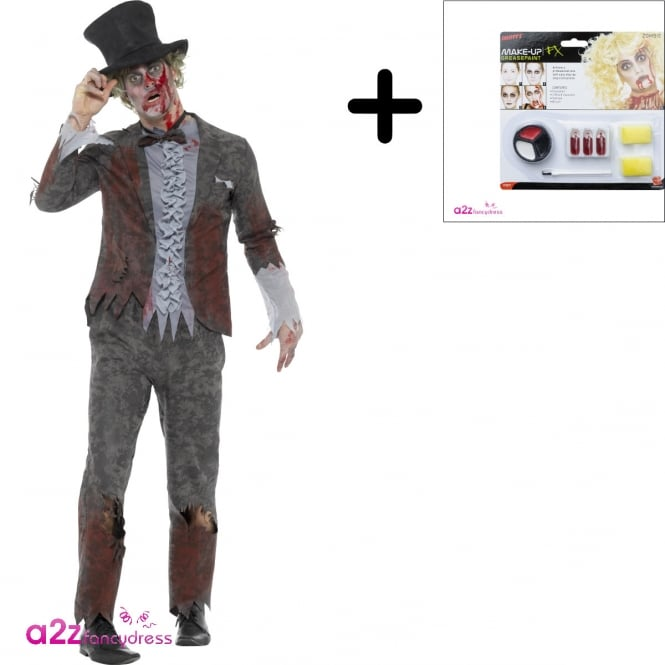 Deluxe Zombie Groom - Adult Costume Set (Costume, Make Up)