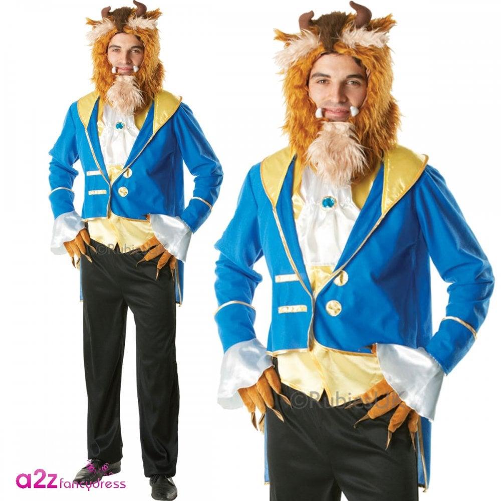 "FANCY DRESS COSTUME ~ MENS DISNEY BEAUTY AND THE BEAST ADULT /""BEAST/"" 38/"" 46/"""