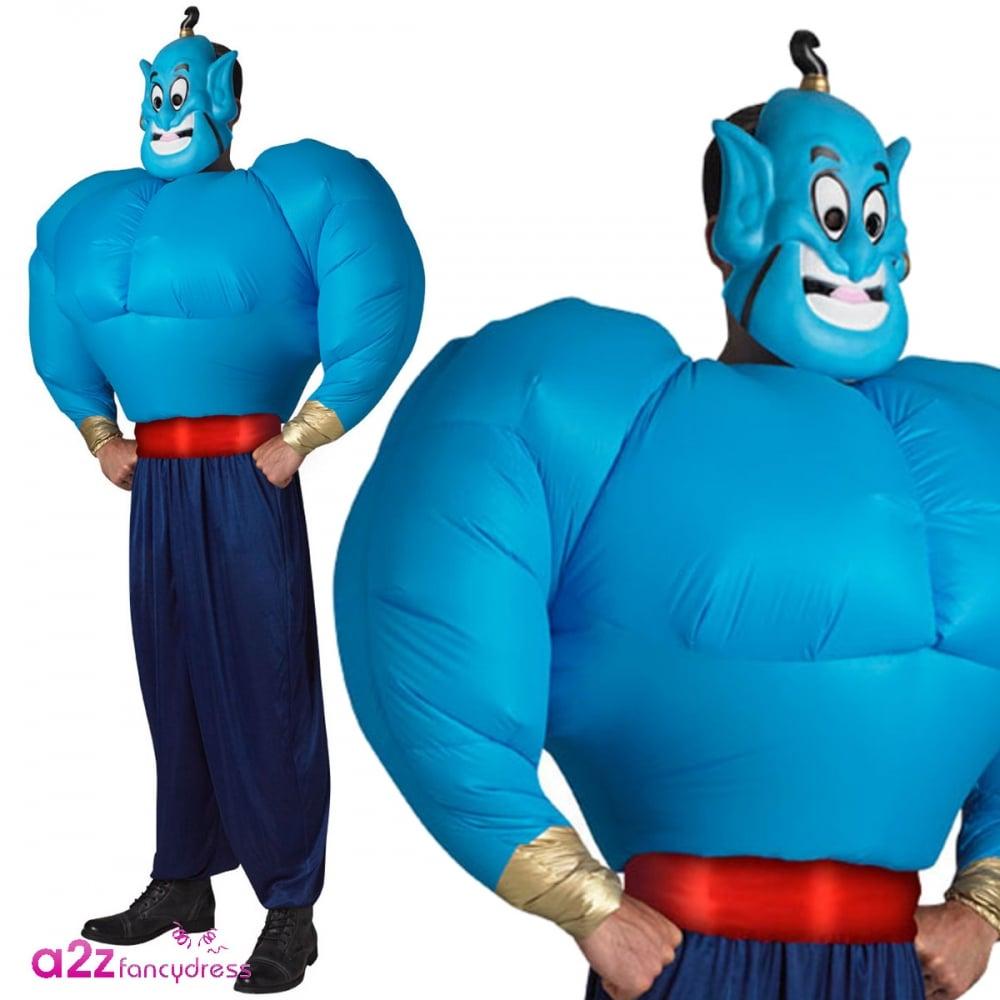 Genie (Aladdin) with Inflatable Torso - Adult Costume  sc 1 st  a2z Fancy Dress & Genie (Aladdin) Inflatable Torso Disney Adult Fancy Dress Costume