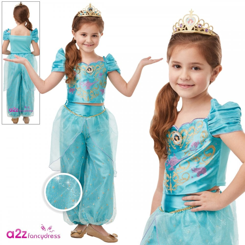 Aurora Girls Disney Princess Fancy Dress Costume Glitter And Sparkle