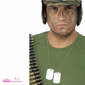 Dogtags on Chain - Adult Accessory