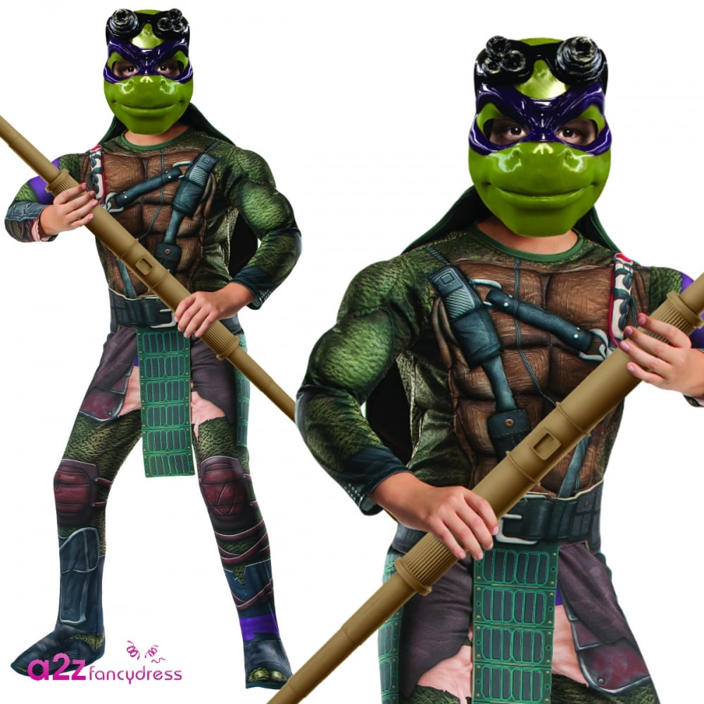Donatello Deluxe Teenage Mutant Ninja Turtles 2 Kids Costume Kids Costumes From A2z Fancy Dress Uk