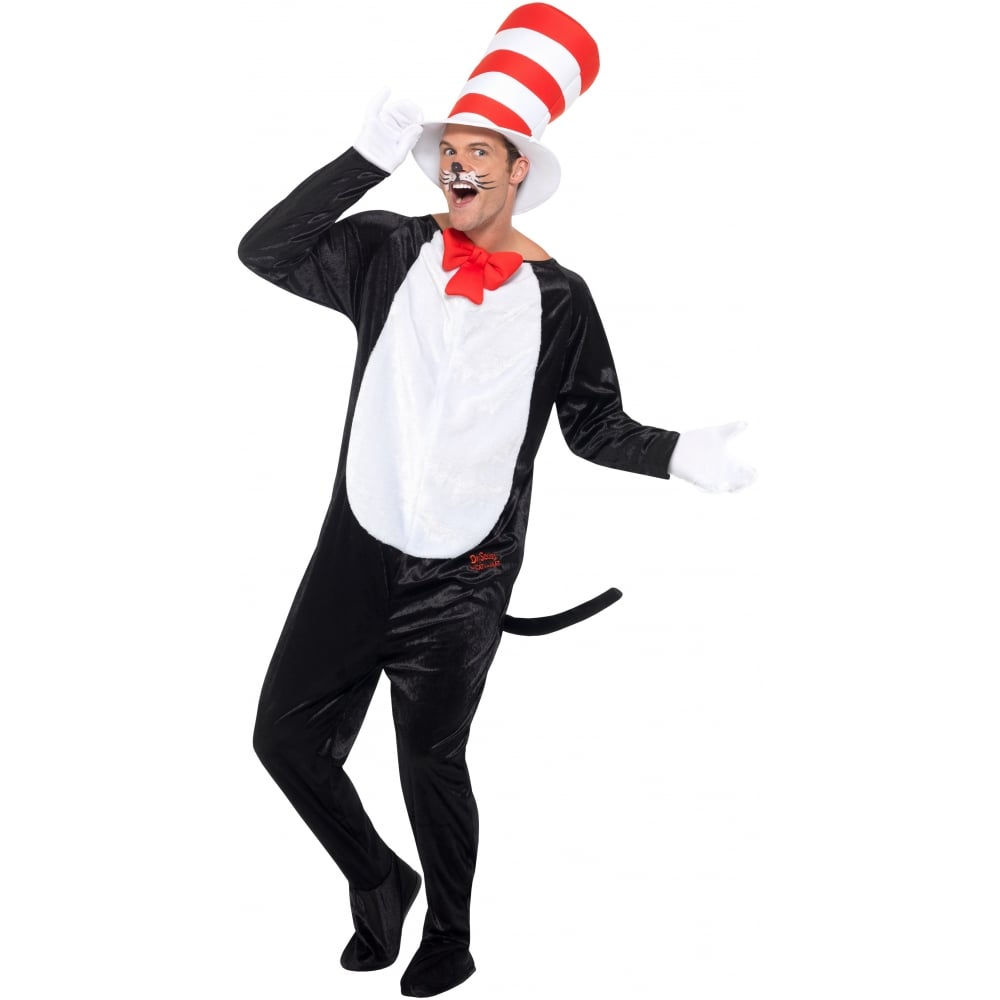 Hat Cat adult costume in the