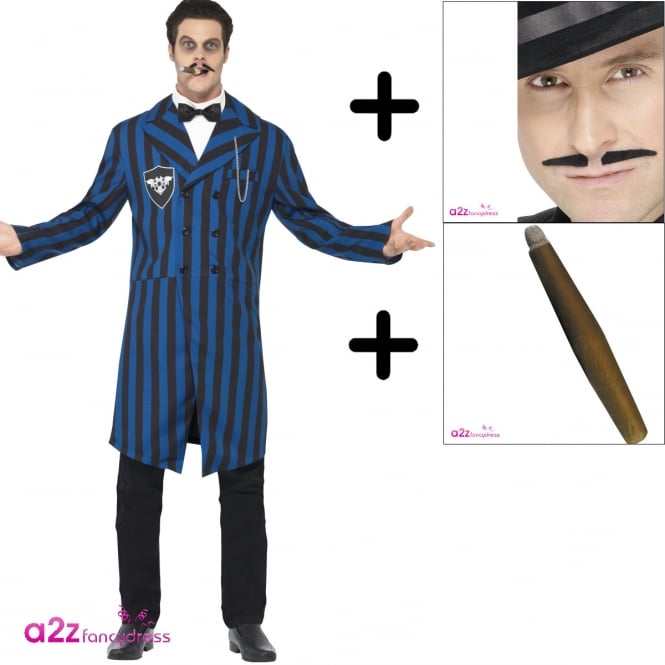 Duke of the Manor - Adult Costume Set (Costume, Cigar & Moustache)
