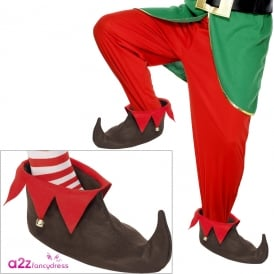 Elf Shoes With Bells - Adult Accessory