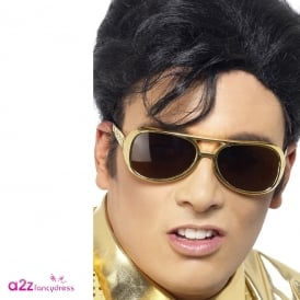 Elvis Gold Shades - Adult Accessory
