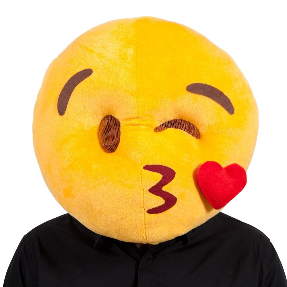 Emoji Adult Fancy Dress Costume Emoticon Winking Face One Size