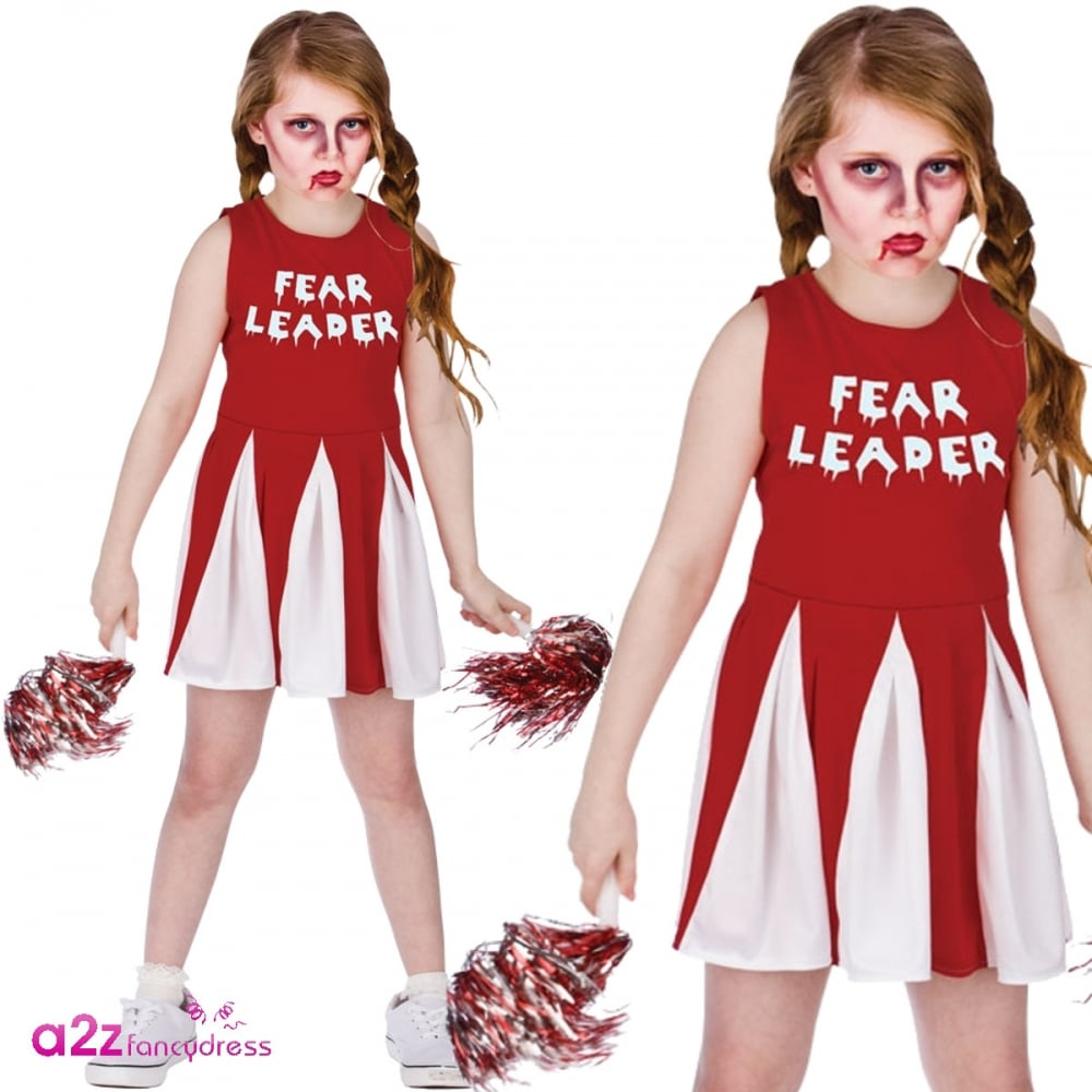 Fear Leader Cheerleader - Kids Costume  sc 1 st  a2z Fancy Dress & Fear Leader Cheerleader - Kids Costume - Kids Costumes from A2Z ...