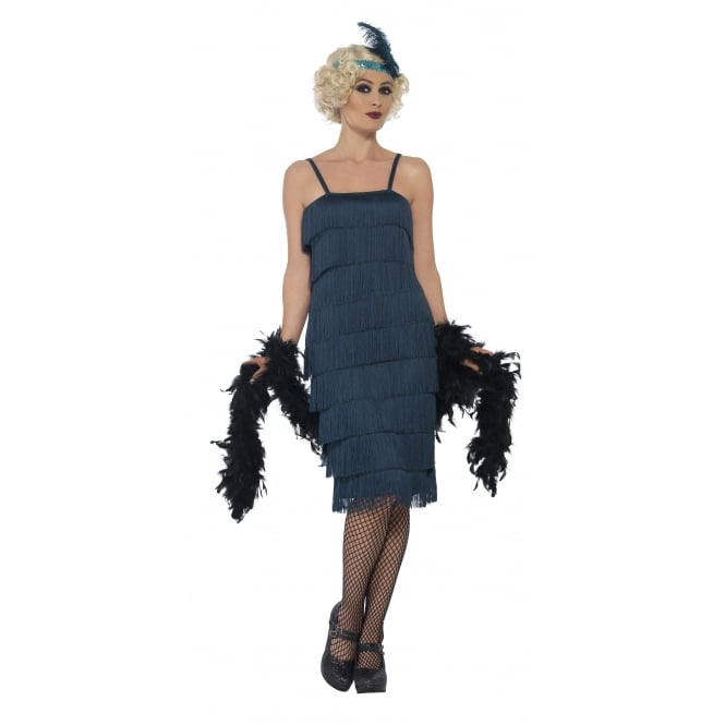 Flapper (Teal Green - Long) - Adult Costume