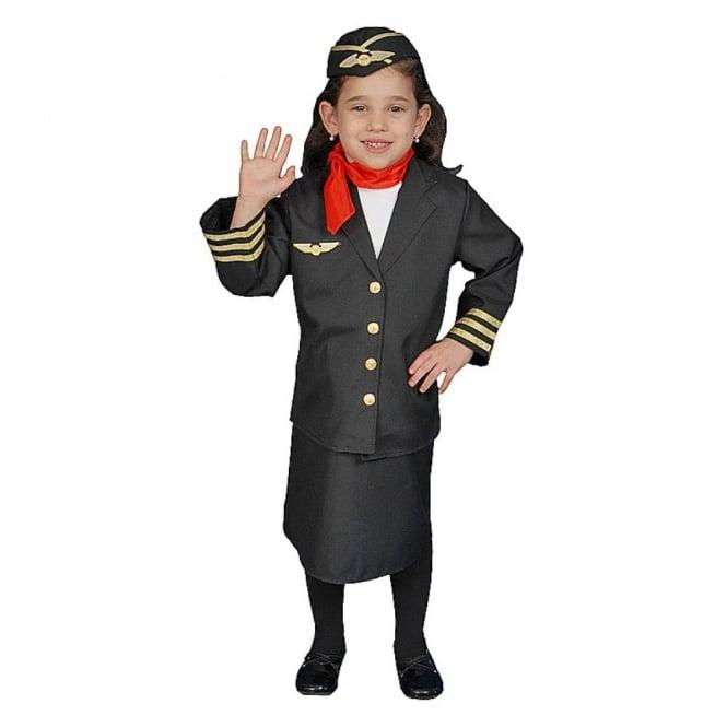 c09439a755c Flight Attendant/Air Hostess - Kids Costume