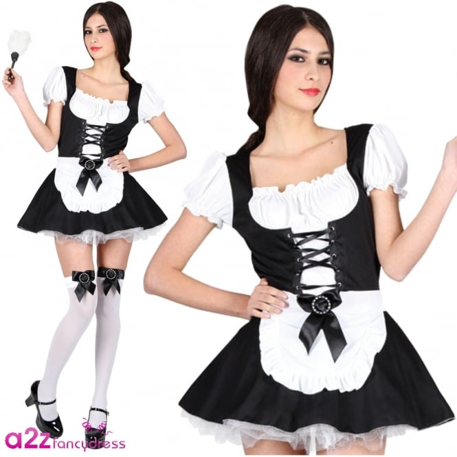 Flirty French Maid - Adult Costume