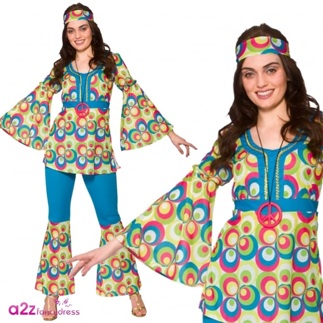 Funky Hippy Chick - Adult Costume