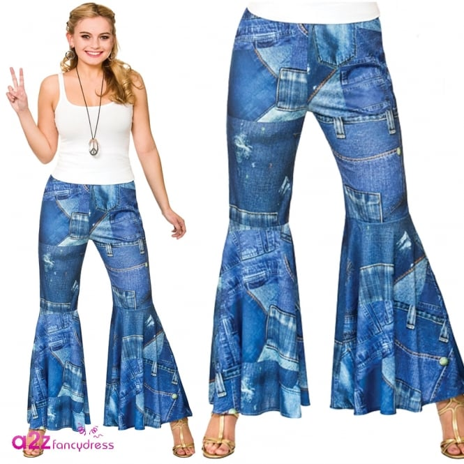 Funky Jeans Hippie Pants - Adult Costume