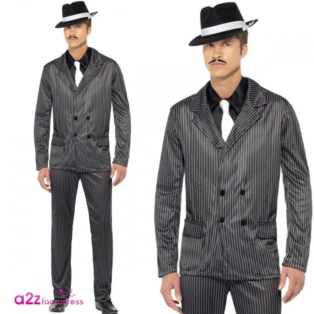 Gangster - Adult Costume  sc 1 st  a2z Fancy Dress & Gangster - Adult Costume - Mens Costumes from A2Z Fancy Dress UK