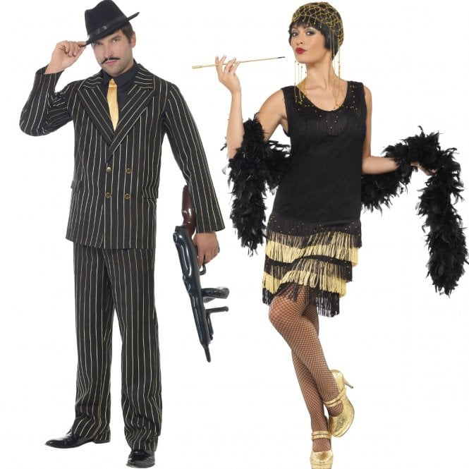 Gangster & Fringed Flapper - Couples Costume