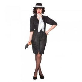 Gangster Gal - Adult Costume