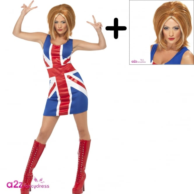 Ginger Power 1990s Icon - Adult Costume Set (Costume, Wig)
