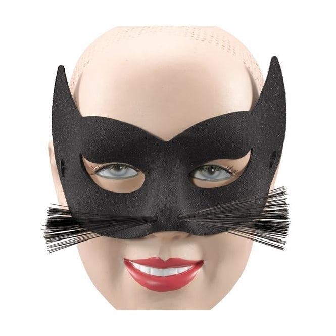 Glitter Cat & Whiskers Mask - Accessory