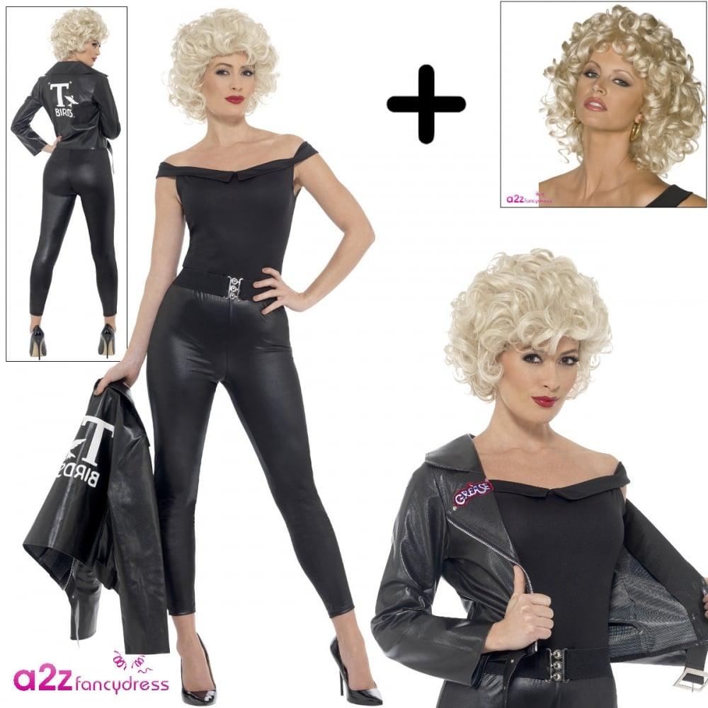 Top Grease Sandy Last Scene - Adult Costume Set (Black Costume, Sandy @WT42
