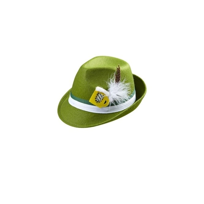 Green Bavarian Beer Hat - Adult Accessory