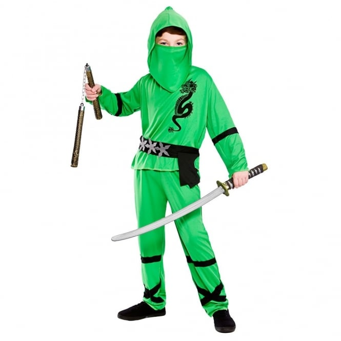 sc 1 st  a2z Fancy Dress & Green Power Ninja - Kids Costume