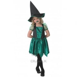 Green Spider Witch - Kids Costume